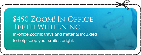 $450 Zoom! In Office Teeth Whitening